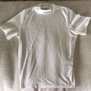 Fitted turtleneck high rise T-shirt